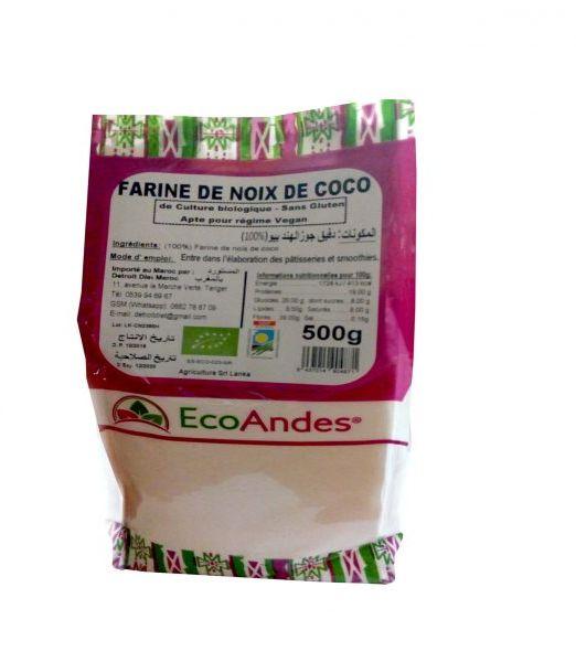 EcoAndes bio Agadir, EcoAndes bio Casablanca, EcoAndes bio Maroc, EcoAndes bio Marrakech, EcoAndes bio Rabat, EcoAndes bio Tanger, farine de noix de coco bio Maroc, farine de noix de coco bio sans gluten Agadir, farine de noix de coco bio sans gluten Casablanca, farine de noix de coco bio sans gluten Marrakech, farine de noix de coco bio Tanger, farine de pois chiches bio Casablanca, farine de pois chiches bio Maroc, farine de pois chiches bio Rabat, farine de pois chiches bio Tanger, farine de quinoa real bio, farine de quinoa real bio Agadir, farine de quinoa real bio Casablanca, farine de quinoa real bio Maroc, farine de quinoa real bio Marrakech, farine de quinoa real bio Tanger, farine de riz sans gluten bio Casablanca, farine de riz sans gluten bio Maroc, farine de riz sans gluten bio Marrakech, farine de riz sans gluten bio Rabat, farine de riz sans gluten bio Tanger, flocons de quinoa sans gluten bio Agadir, flocons de quinoa sans gluten bio Casablanca, flocons de quinoa sans gluten bio Maroc, flocons de quinoa sans gluten bio Marrakech, flocons de quinoa sans gluten bio Tanger
