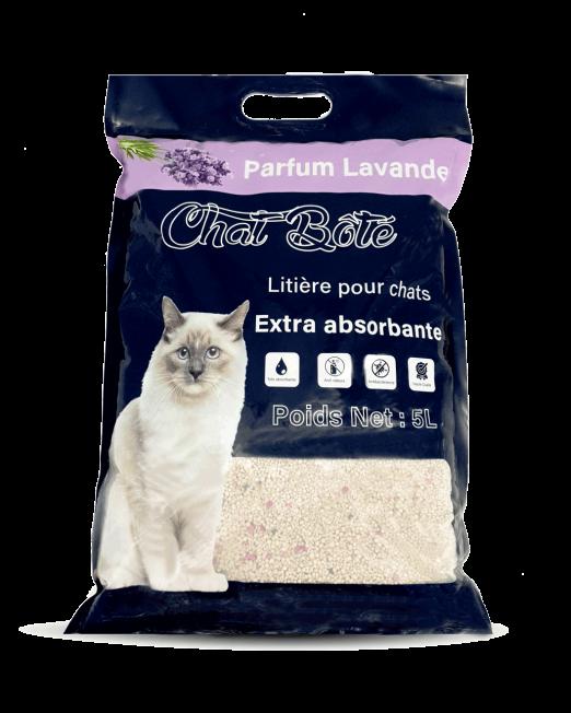 Litière Pour Chat Absorbante Lavande Chat Botté Maroc