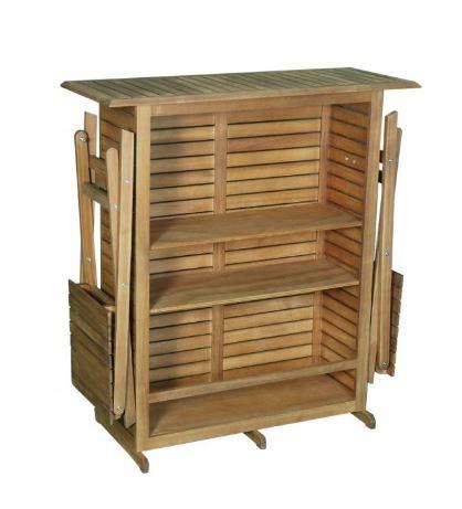 Bar set Acacia 3 pieces table avec 2 chaises pliables maroc