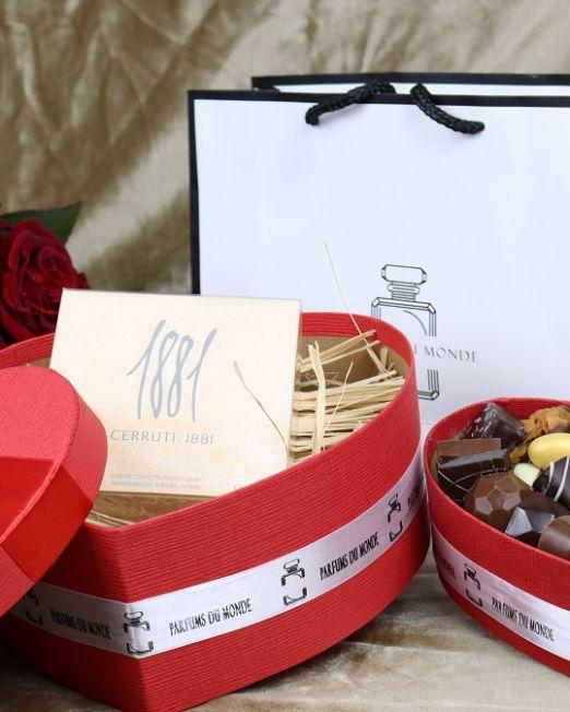 Idée cadeaux coffret chocolat fleurs parfums saint valentin pour femme homme au maroc 2