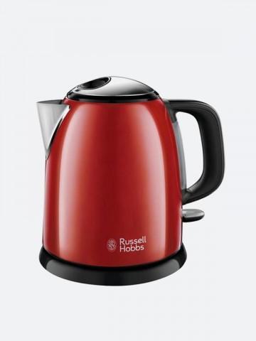 Bouilloire Compacte Colours Plus Rouge Russell Hobbs Maroc