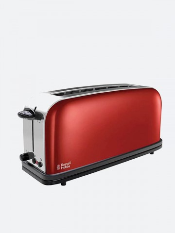 Grille Pain Colours Plus Rouge Flamboyant Russell Hobbs Maroc